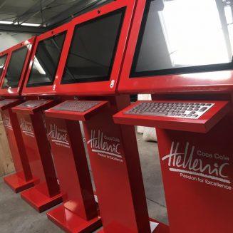 Terminale infochiosc androidMARK 19″ MULTITOUCH pentru Coca Cola Nigeria (Coca-Cola Hellenic)